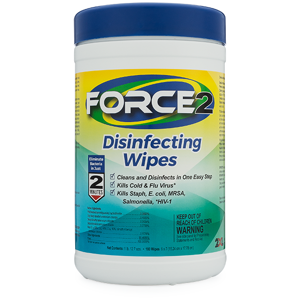 2XL-406: Force2 Disinfectant Wipes