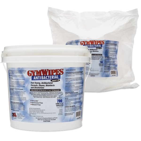 2XL-100: GymWipes Antibacterial
