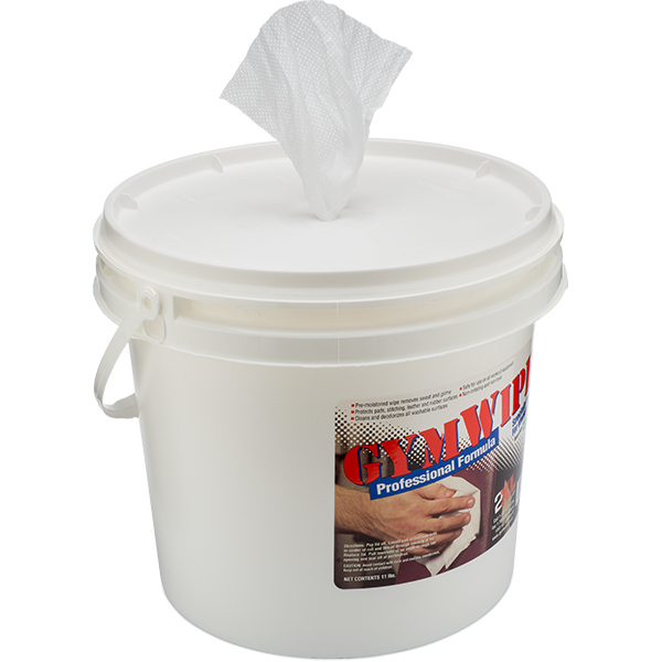 2 buckets per case. 2XL Corp GymWipes Antibacterial Force Wipe 700 per bucket