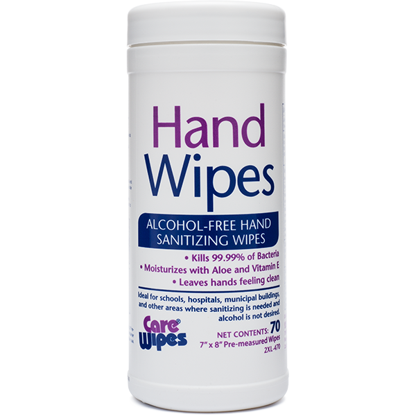 2XL470: Alcohol-Free Hand Sanitizing Wipes