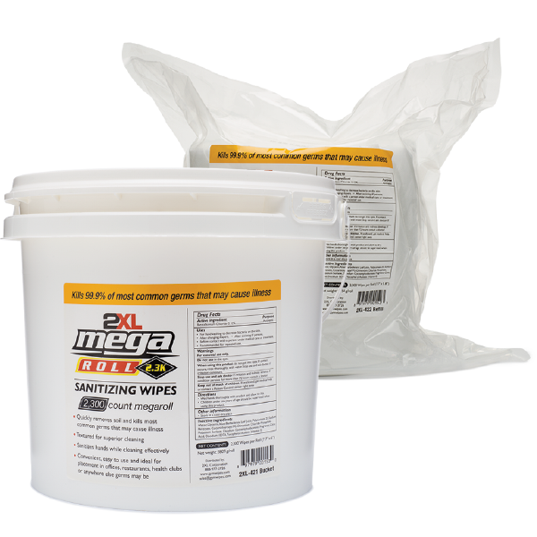 2XL-421: Mega Roll Recyclable Sanitizing Wipes (2300 CT)