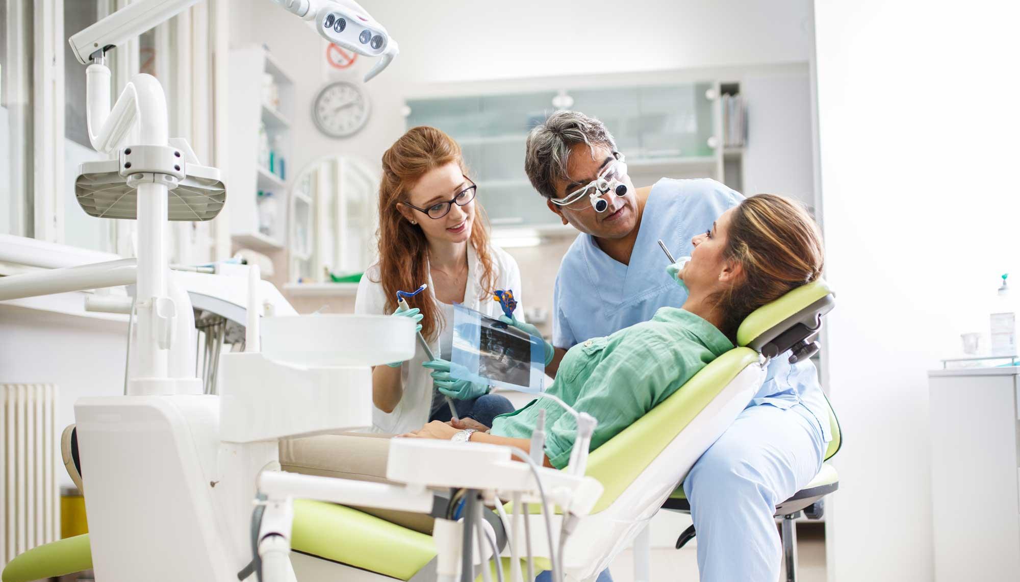 Dentist Disinfecting