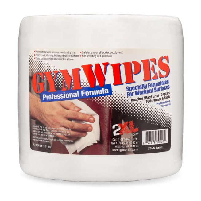 Front view of GymWipes Professional Formula.