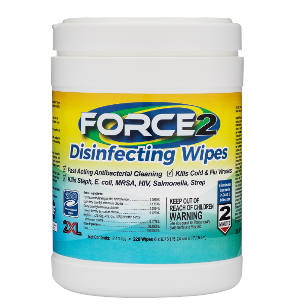 2XL407: FORCE2 Disinfecting Wipes