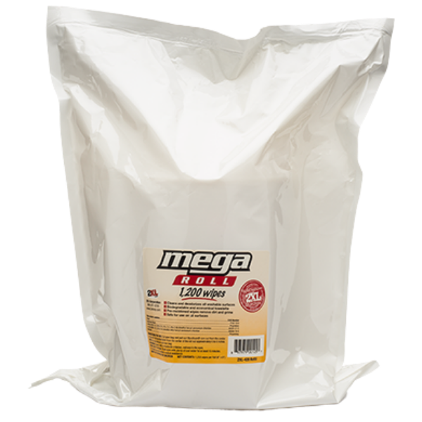 2XL420: Mega Roll Facility Wipe (1200 CT)