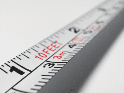 Close up photo of tape measure.