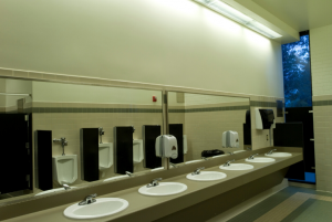 Be sure to deep clean bathrooms and restrooms in your facility while spring cleaning.