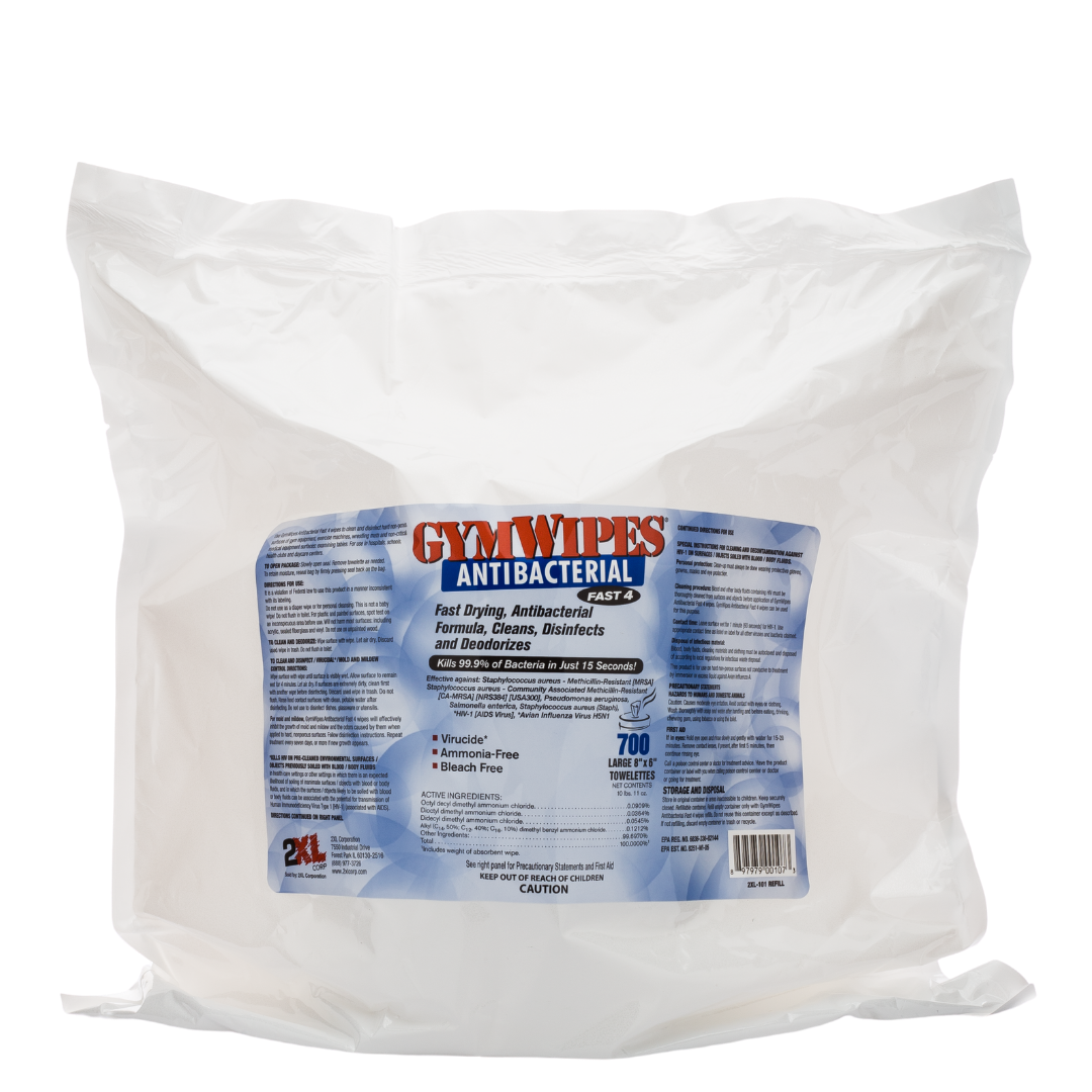 2XL101: GymWipes Antibacterial
