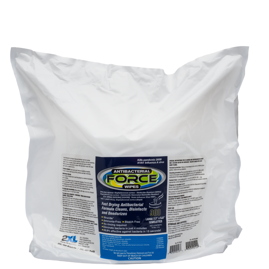 2XL401: Antibacterial Force Wipes