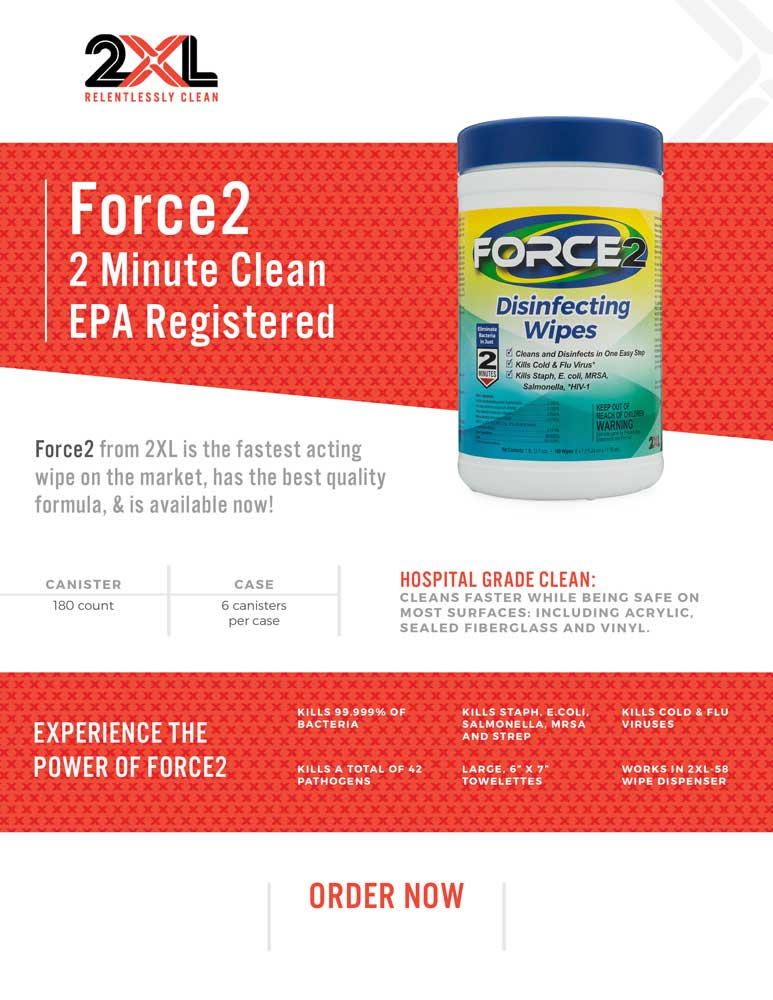 Force2 Disinfecting Wipes fact sheet.