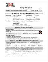 2XL-221 Stage 2 Foaming Hand Sanitizer SDS