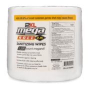 Front view of 2XL Mega Roll 2,300 Sanitizing Wipes.