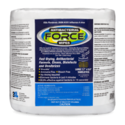 Front view of Antibacterial Force Wipes.