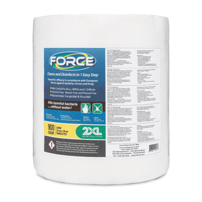 Front view of Force wipes.