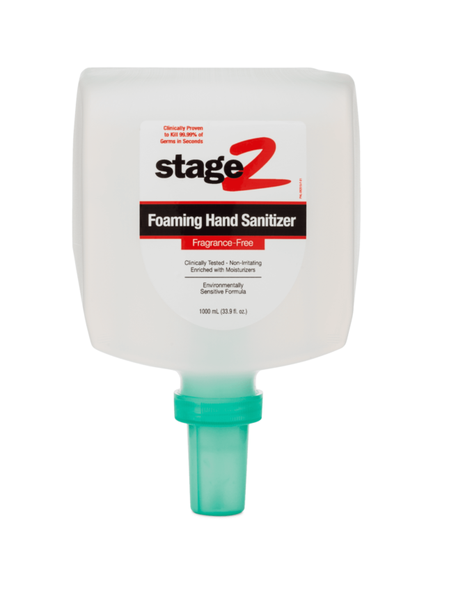 Front view of Foaming Hand Sanitizer Fragrance-Free.