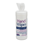 Front view of open Hand Wipes Alcohol-Free Hand Sanitizing Wipes.