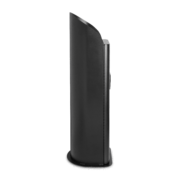 Side view of black 2XL Guardian stand.