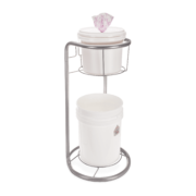 Side view of Helix stand with bucket dispenser.