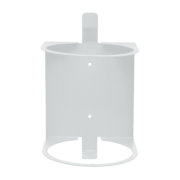 Front view of white wall mount.