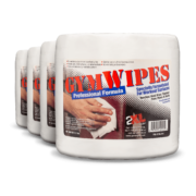 Front view of GymWipes Professional Formula, group shot.