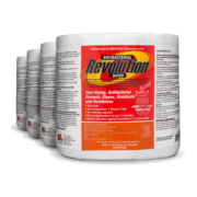 Front view of Antibacterial Revolution Wipes, group shot.