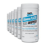 Front view of CareWipes Glass/LCD Wipes, group shot.