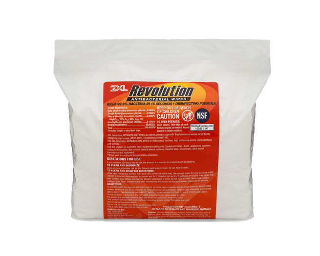 2XL Revolution Antibacterial Wipes